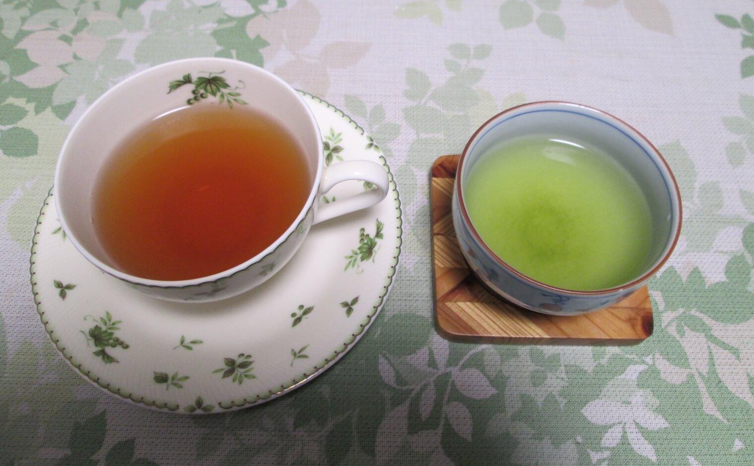 緑茶と紅茶