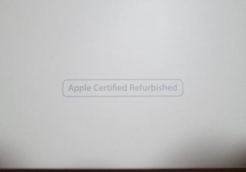 iPad air2整備済製品の箱