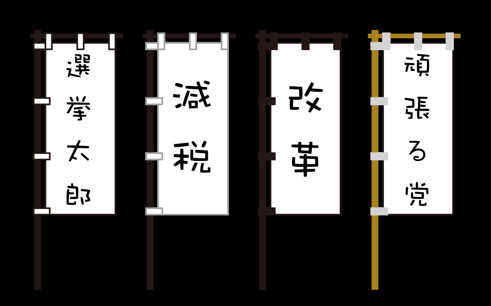 選挙運動でののぼり旗の使用規制